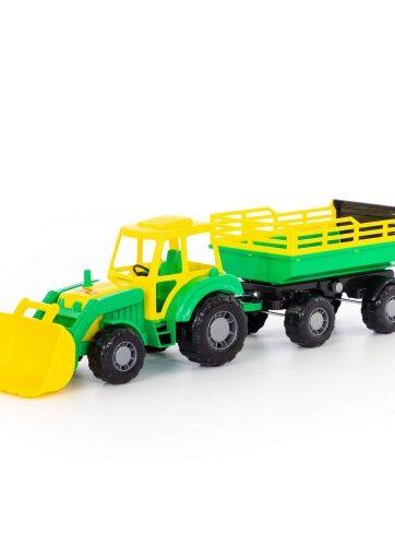 Zdjęcie Wader-Polesie traktor z przyczepą i łyżką Altaj - producenta POLESIE