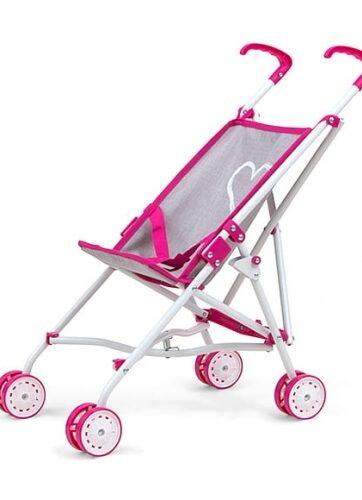 Zdjęcie Wózek dla lalek Julia Prestige różowo-szary - Milly Mally - producenta MILLY MALLY