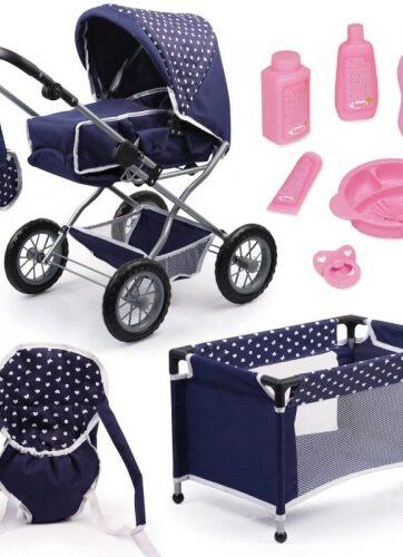 Zdjęcie Wózek dla lalki Combi Grande Set + łóżeczko - producenta BAYER