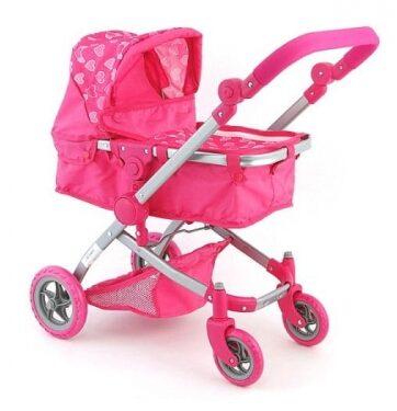 Zdjęcie Wózek głęboki dla lalek różowy serca - producenta ADAR