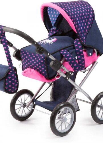 Zdjęcie Wózek głęboki dla lalki City Star granatowy - producenta BAYER