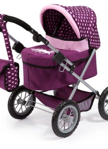 Zdjęcie Wózek głęboki dla lalki Trendy fioletowy - producenta BAYER