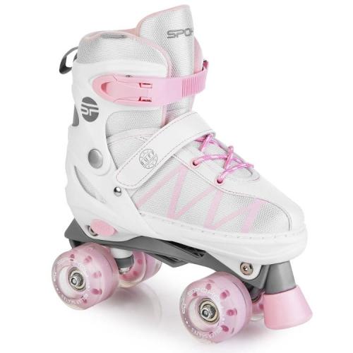 Zdjęcie Wrotki dla dziewczynki Buff Pro 34-37 biało różowe - Spokey - producenta SPOKEY