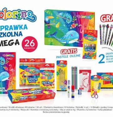 Zdjęcie Wyprawka szkolna MEGA 26 elementów Colorino Kids - producenta PATIO