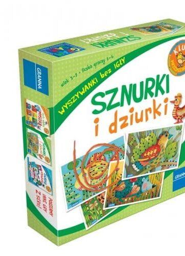 Zdjęcie Zabawka edukacyjna Sznurki i dziurki 4 plansze GRANNA - producenta GRANNA
