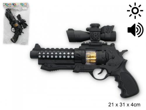 Zdjęcie Zabawkowy pistolet na baterie z efektami świetlnymi i dźwiękowymi - producenta GAZELO