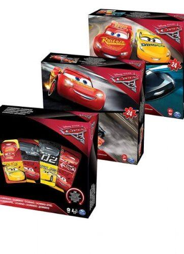 Zdjęcie Zestaw 3 gier Disney Cars 3 - producenta SPIN MASTER