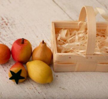 Zdjęcie Zestaw Owoce drewniane 5szt w łubiance EKO-BASTJAN - producenta EKO-BASTJAN