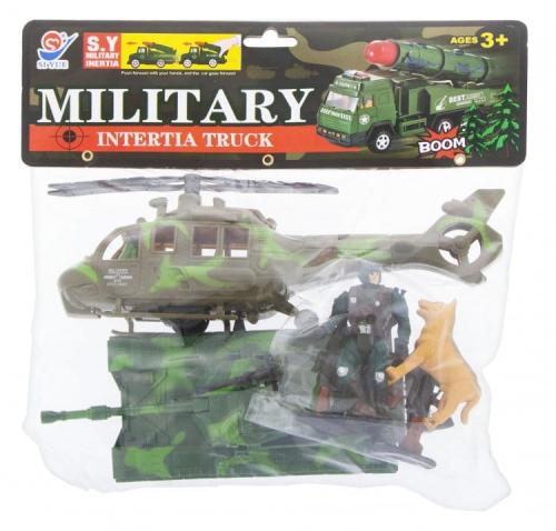 Zdjęcie Zestaw do zabawy w wojsko dla dzieci Czołg i helikopter moro + akcesoria - producenta EURO-TRADE