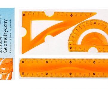 Zdjęcie Zestaw geometryczny elastyczny 3el pomarańczowy - producenta TETIS