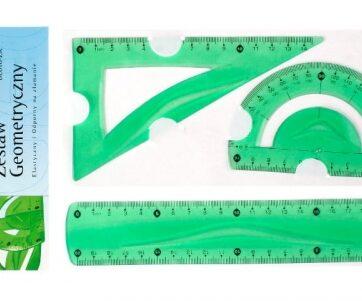 Zdjęcie Zestaw geometryczny elastyczny 3el zielony - producenta TETIS