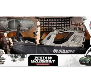 Zdjęcie Zestaw wojskowy z łodzią 2 figurki żołnierzy - producenta ARTYK
