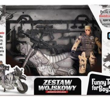 Zdjęcie Zestaw wojskowy z motocyklem i figurką żołnierza - producenta ARTYK