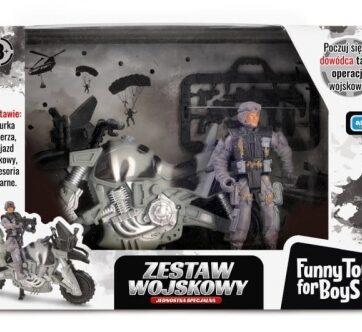 Zdjęcie Zestaw wojskowy z motorem i figurką żołnierza - producenta ARTYK