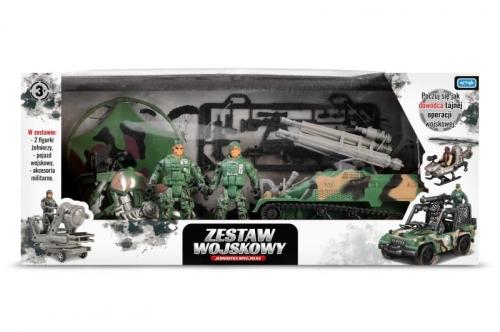 Zdjęcie Zestaw wojskowy z wozem bojowym 2 figurki żołnierzy - producenta ARTYK