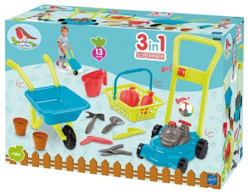Zdjęcie Zestaw zabawek ogrodowych kosiarka taczka narzędzia - producenta ECCOIFFIER